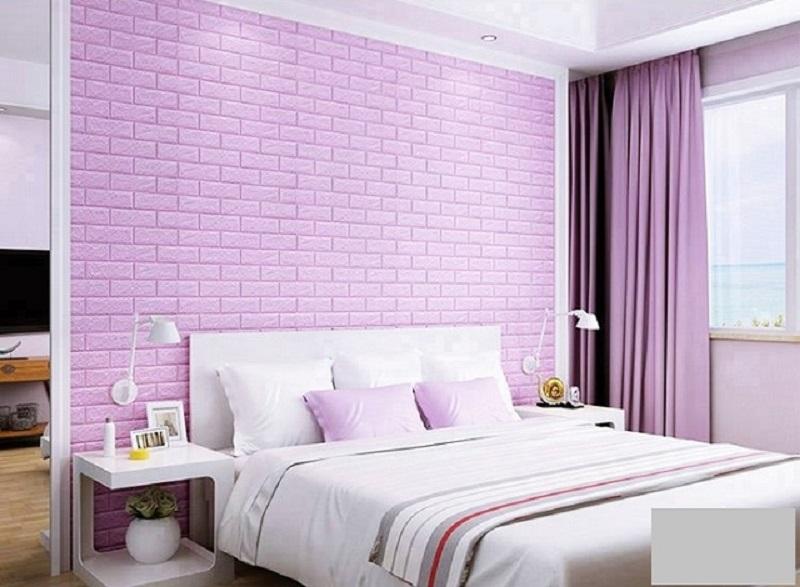 Phòng ngủ với xốp dán