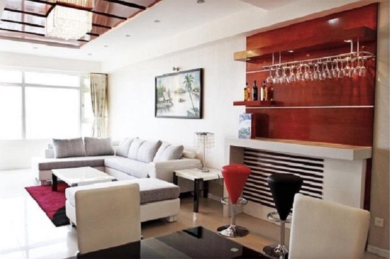 Quầy bar đặt tại phòng khách