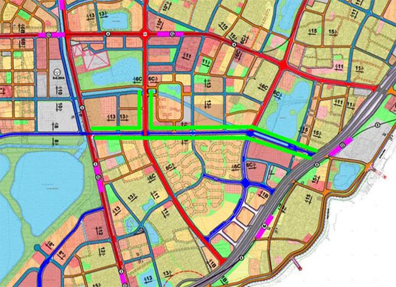 Quy hoạch các tuyến đường liên khu vực quận Hoàng Mai