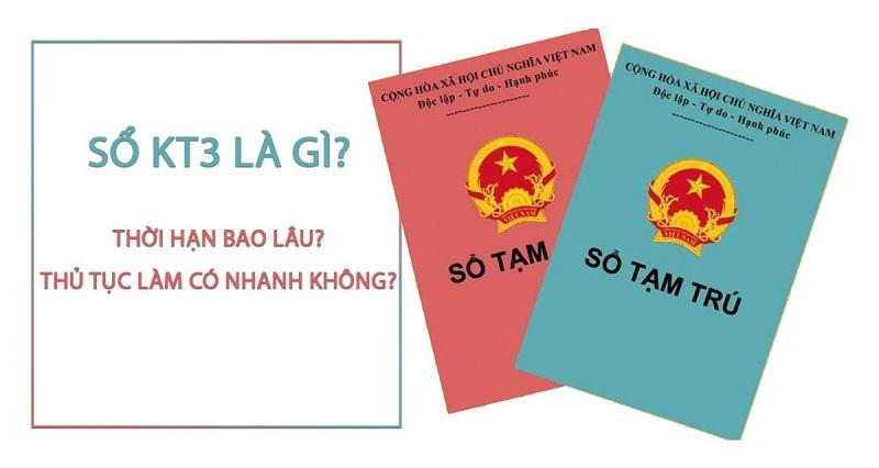 Sổ tạm trú KT3 được sử dụng khá nhiều bởi người lao động hoặc sinh viên đến từ các tỉnh khác.