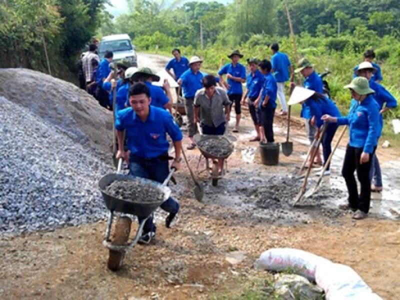 Thanh niên chung tay xây dựng đất nước
