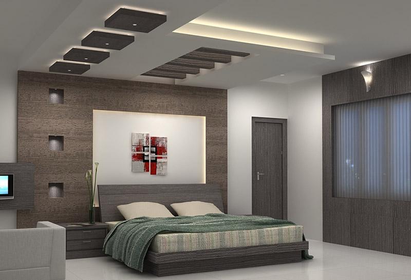 Thi công trần thạch cao phòng ngủ