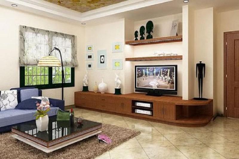 Thiết kế kệ tivi đẹp đơn giản