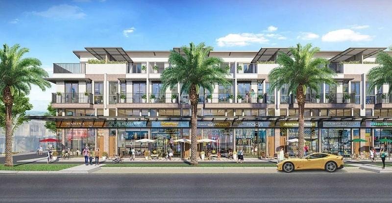 Thiết kế nhà phố Shophouse nơi diễn ra các hoạt động sầm uất trong tương lai