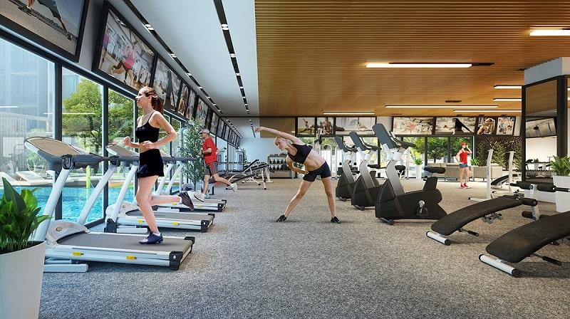 Tiện ích phòng Gym hiện đại có mặt ngay tại dự án Asiana Đà Nẵng phục vụ cư dân