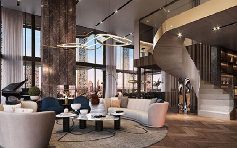 Toàn bộ căn hộ penthouse đều toát lên sự đẳng cấp riêng biệt
