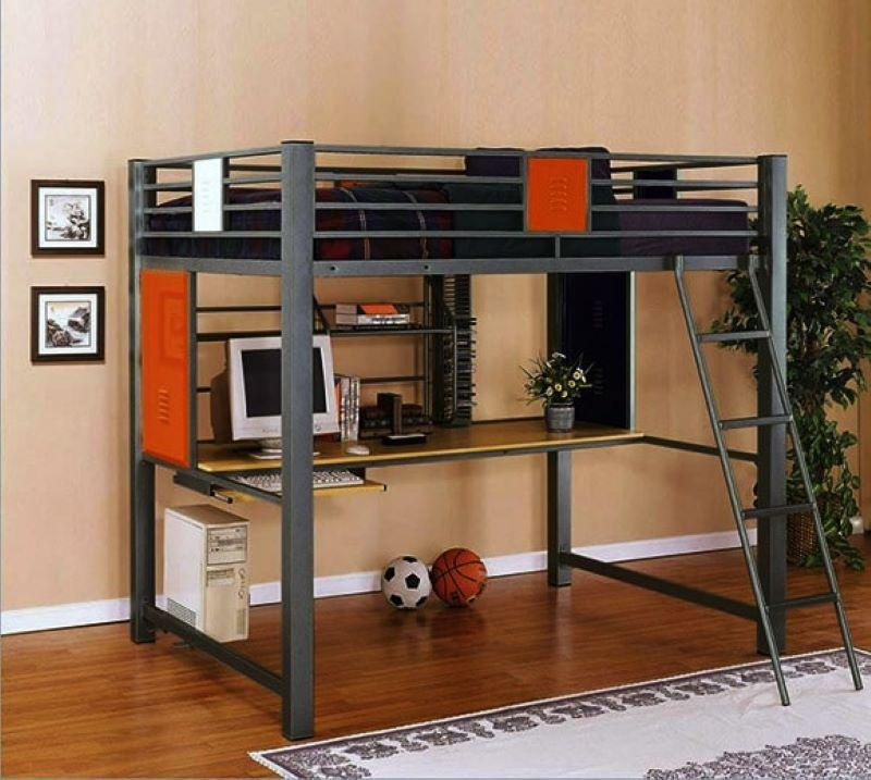 Tối ưu hóa không gian với giường tầng kết hợp bàn học
