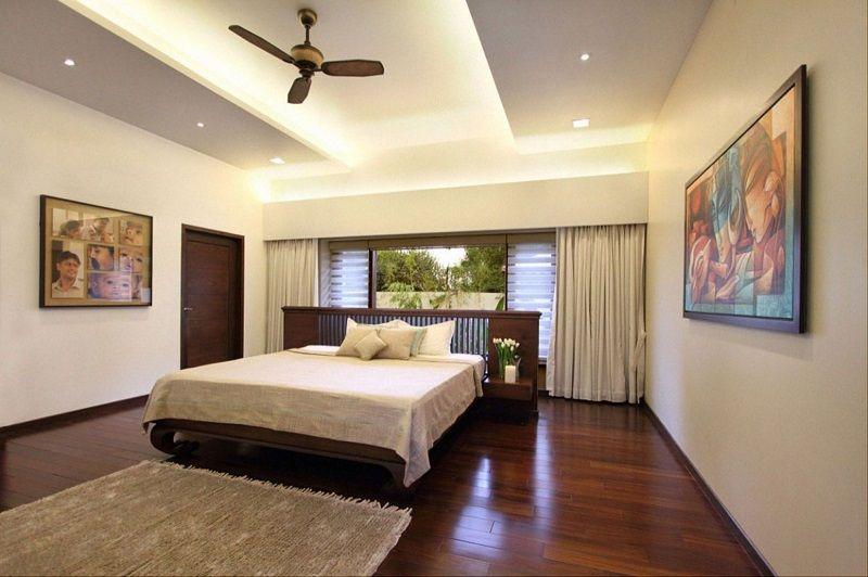 Trần thạch cao phòng ngủ đơn giản và hiện đại