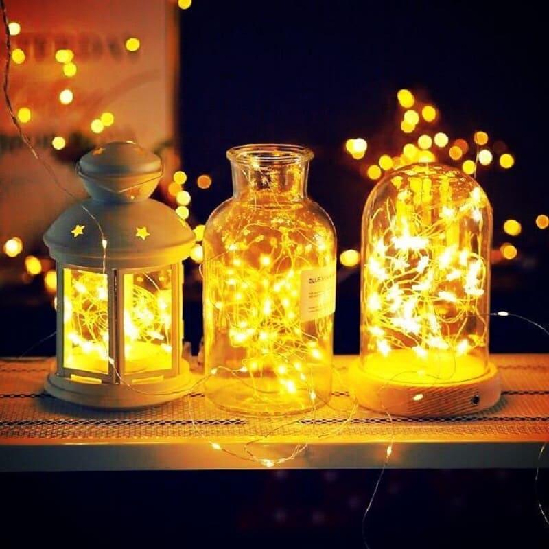 Trang trí lọ thủy tinh đèn led