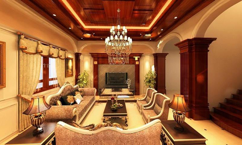 Trang trí phòng khách cổ điển