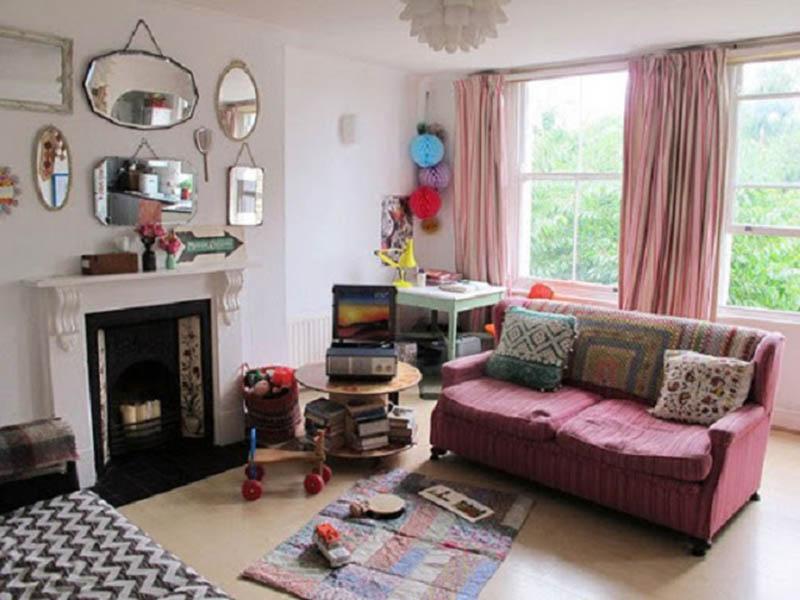 Trang trí phòng khách Vintage