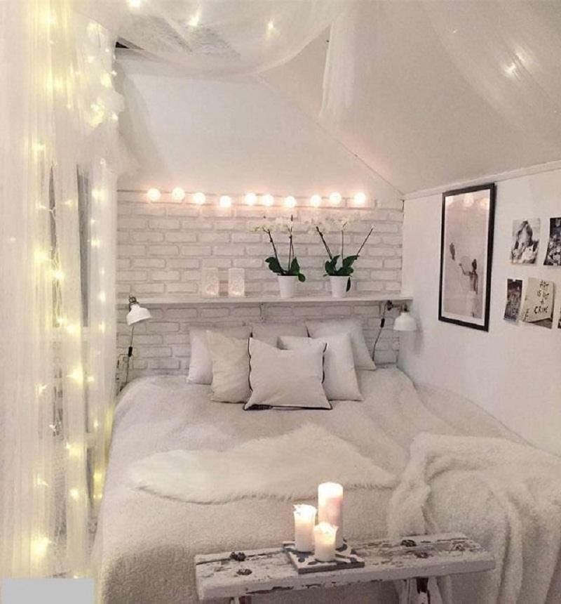Trang trí phòng ngủ với đèn