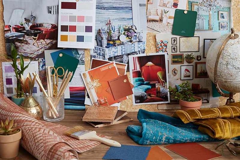 Tranh vẽ là một phần quan trọng trong việc trang trí nội thất phong cách bohemian