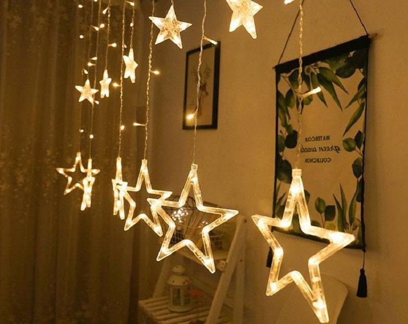 Treo đèn led hình ngôi sao