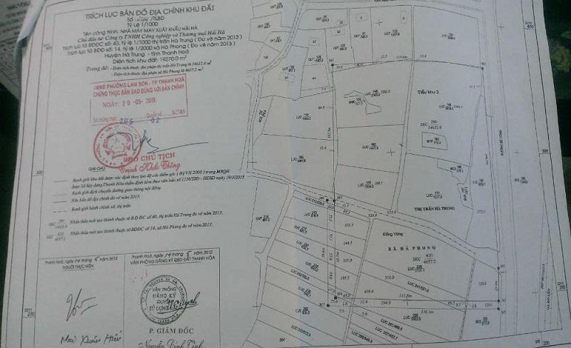 Trích lục thửa đất địa chính