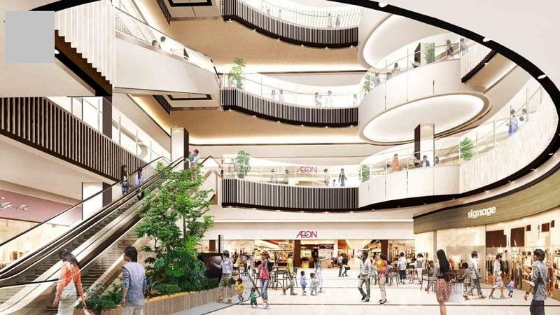 Trung tâm thương mại thiết kế sang trong, quy mô lớn giúp cư dân thỏa sức mua sắm