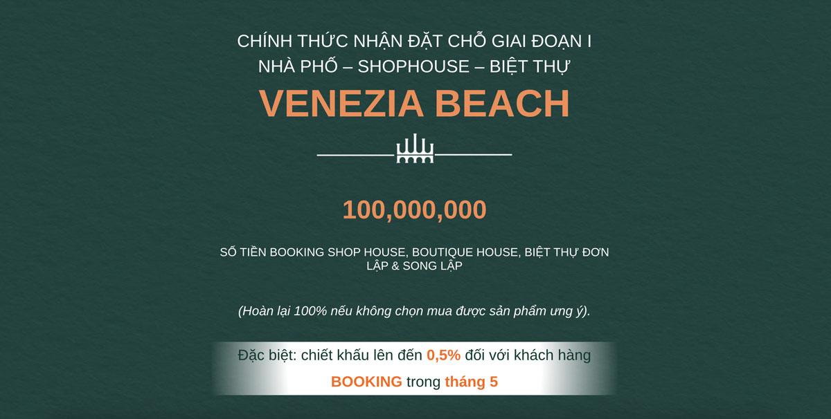 Hưng Vượng nhận booking mở bán venezia beach