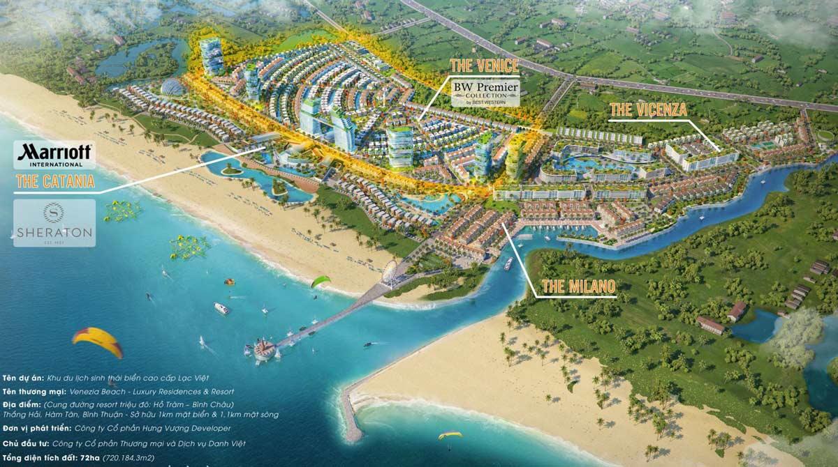 mặt bằng tổng thể dự án venezia beach vũng tàu