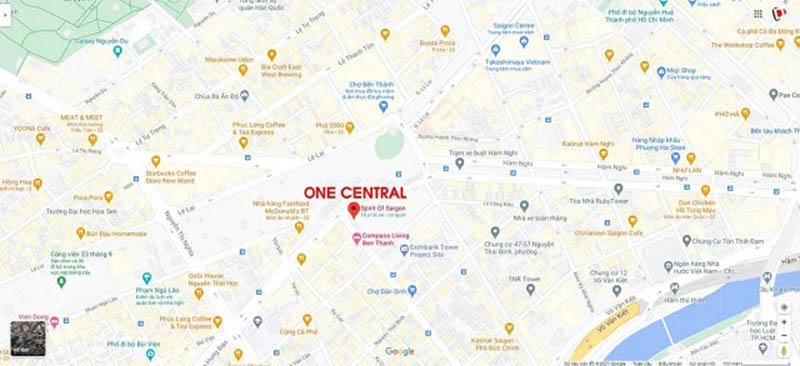 Vị trí Dự án căn hộ One Central