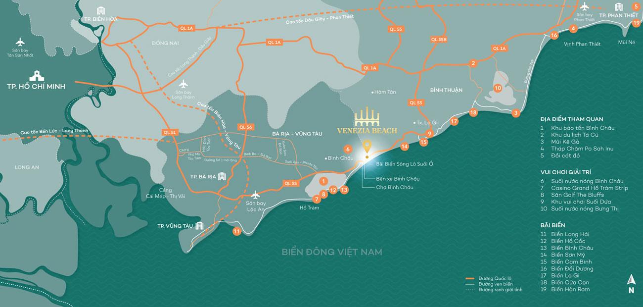 Venezia Beach là dự án được đánh giá là một trong những kiệt tác hiếm có của khu vực.