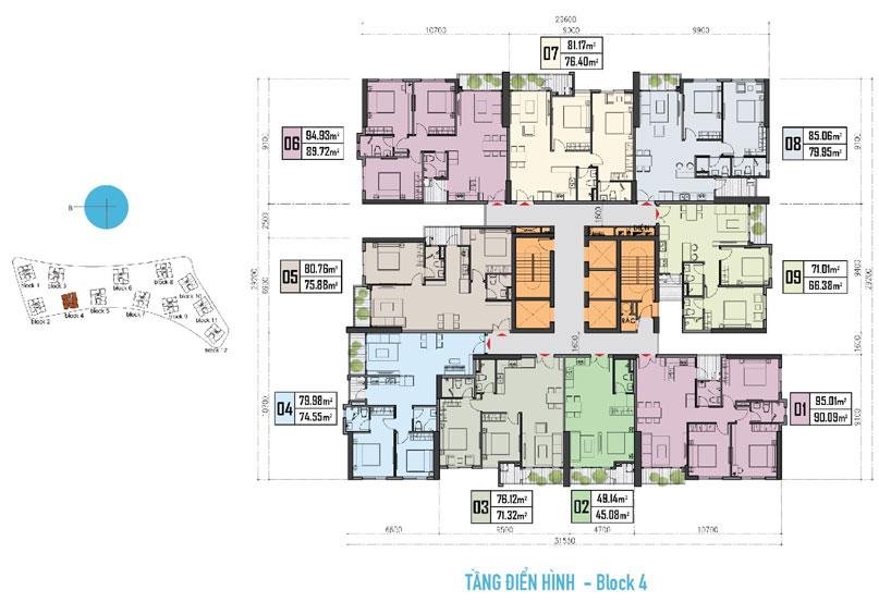 Block căn hộ 4 dự án Gem Riverside