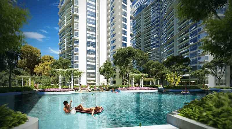 hồ bơi dự án căn hộ kenton node