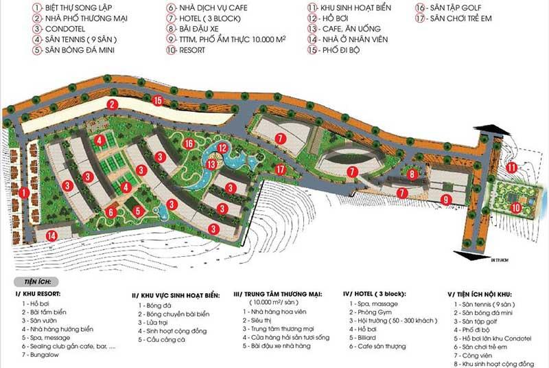 tiện ích dự án aloha beach village