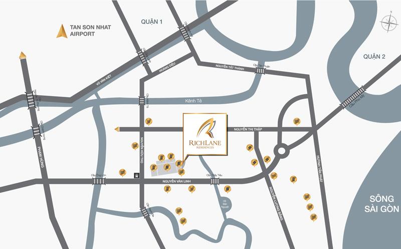 vị trí dự án Richlane Residences