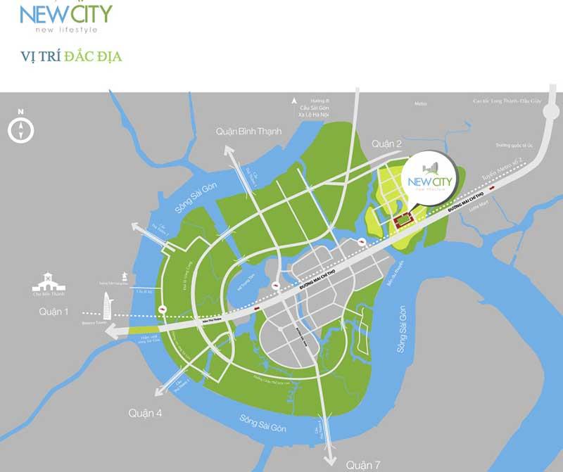 vị trí dự án new city