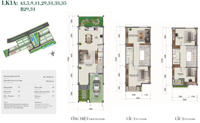 nhà phố dự án Rosita Garden Khang Điền