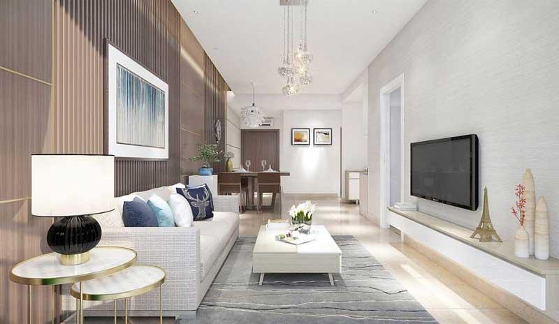 Phòng khách căn hộ River Panorama