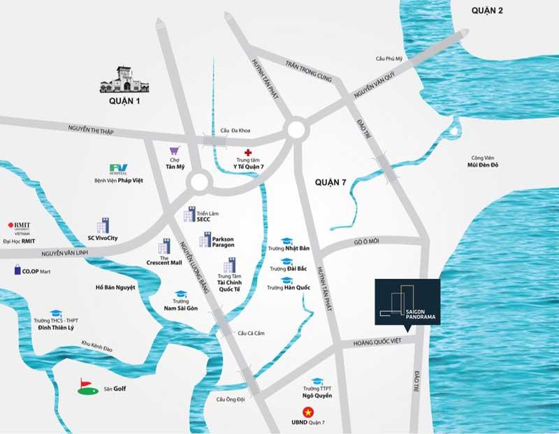 Vị trí dự án chung cư River Panorama Q7