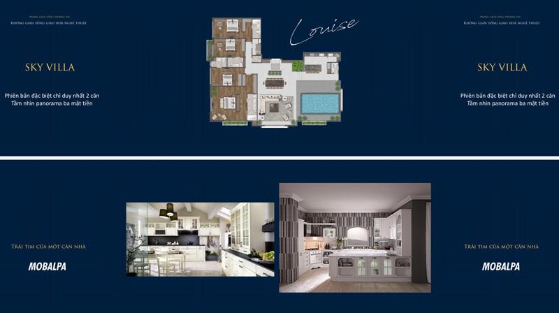Mặt bằng Penthouse và Sky Villa