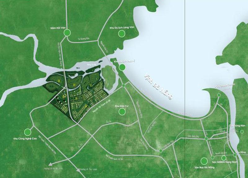Vị trí dự án Vinhomes Golden Hills Đà Nẵng