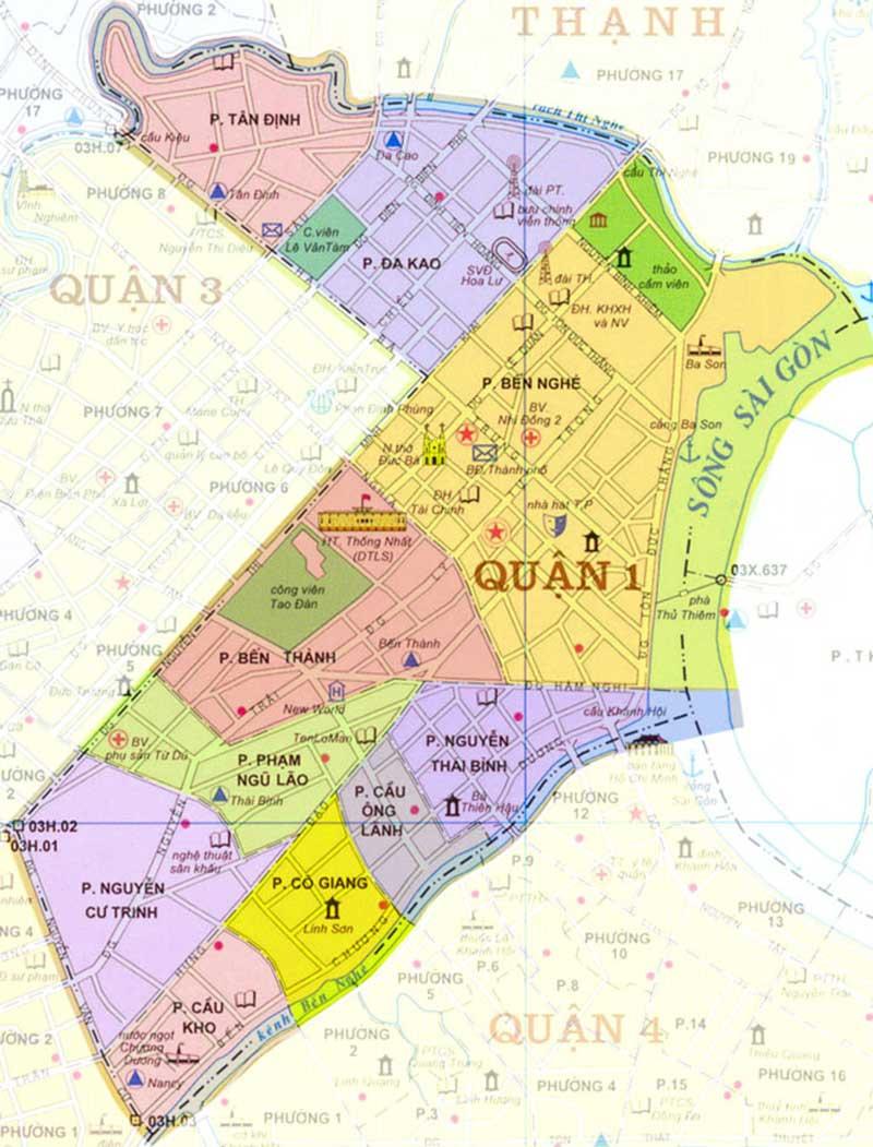 bản đồ quận 1