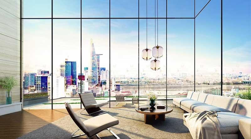 view nhìn căn hộ Officetel Masteri Millennium