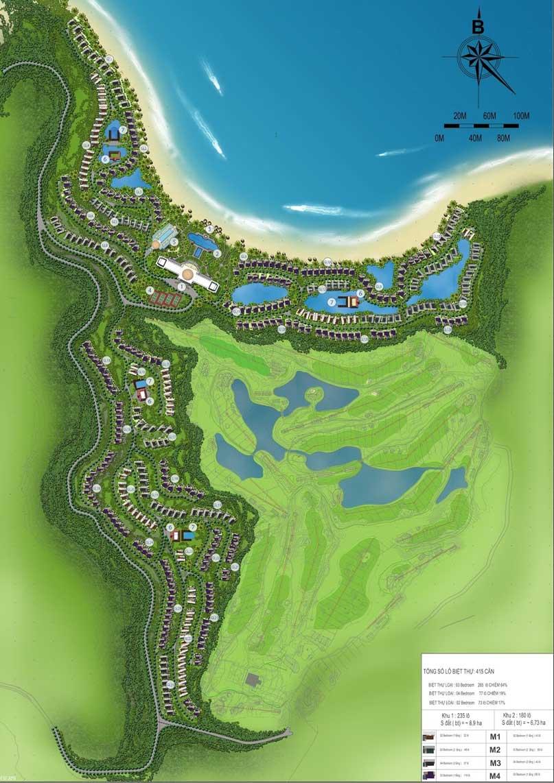 mặt bằng Vinpearl Nha Trang Resort Villas
