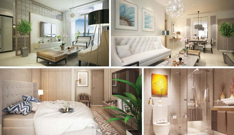 Nội thất tòa tháp căn hộ Luxury 6 Vinhomes Golden River