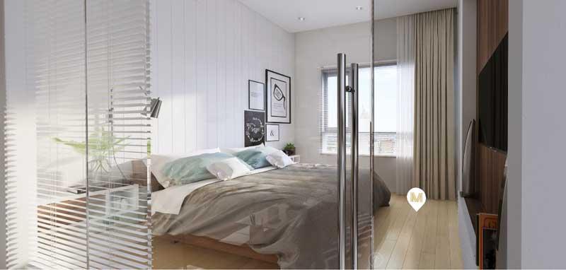 Phòng ngủ của căn hộ Office Tel Masteri Millennium