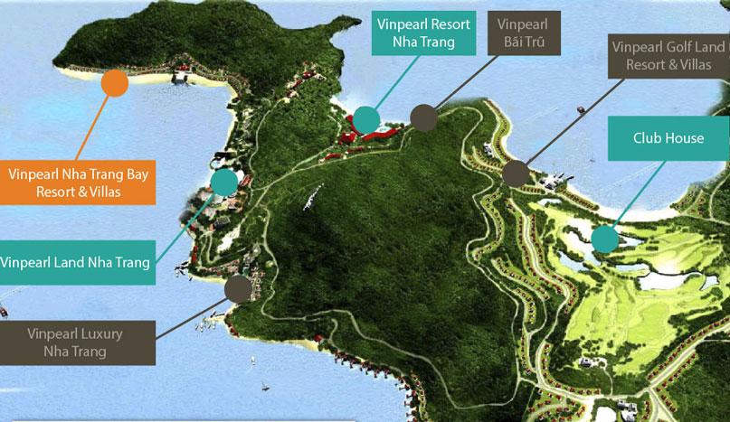 vị trí Vinpearl Nha Trang Golf Land