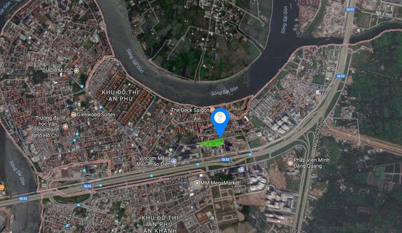 vị trí địa lý của dự án căn hộ Q2 Thao Dien