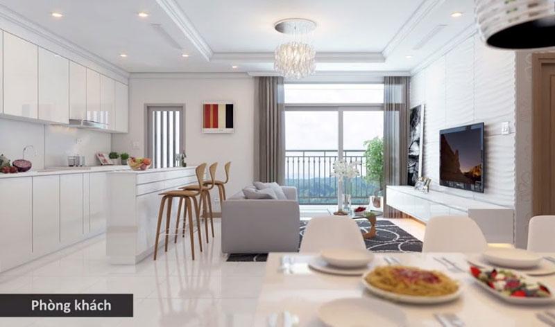 Phòng Khách căn hộ chung cư cao cấp Masteri M-ONE