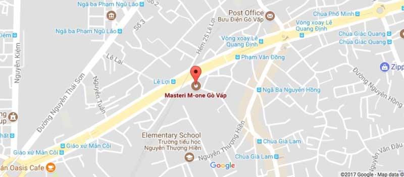 vị trí dự án M One Masteri Gò Vấp