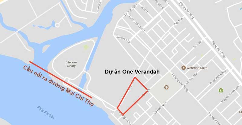 vị trí dự án One Verandah