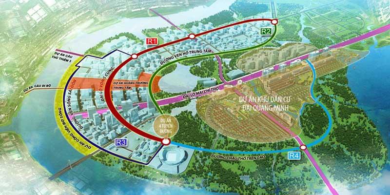 Không gian xanh trong lành tại dự án căn hộ New City Thủ Thiêm Thuận Việt