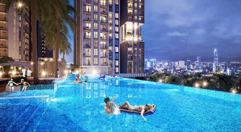 hồ bơi dự án