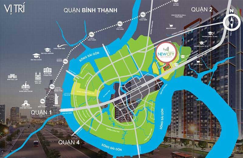 Chung cư New City Thủ Thiêm Thuận Việt Quận 2 vi tri