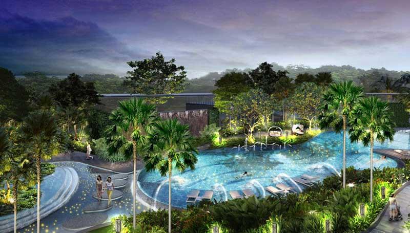 Hồ bơi dự án Palm Garden Quận 2