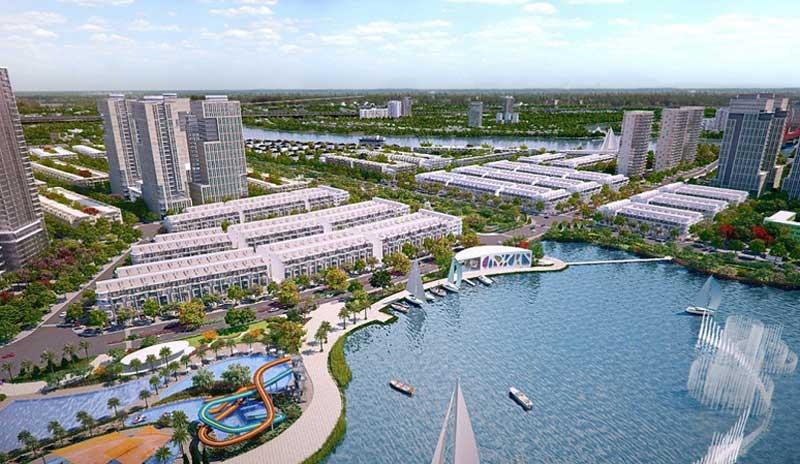 Hồ cảnh quan rộng lớn bên trong dự án Him Lam City