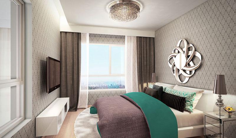Phòng ngủ lớn căn hộ Duplex Vista Verde Quận 2